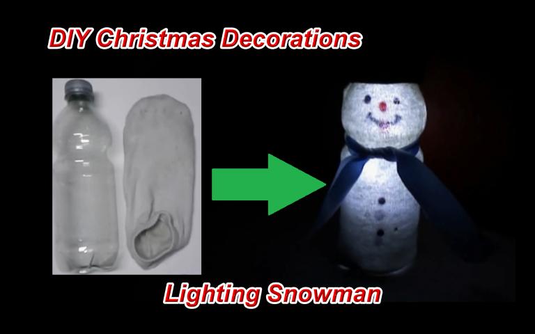 DIY Leuchtenden Schneemann Basteln U2013 LED Weihnachtsdeko Selber Machen