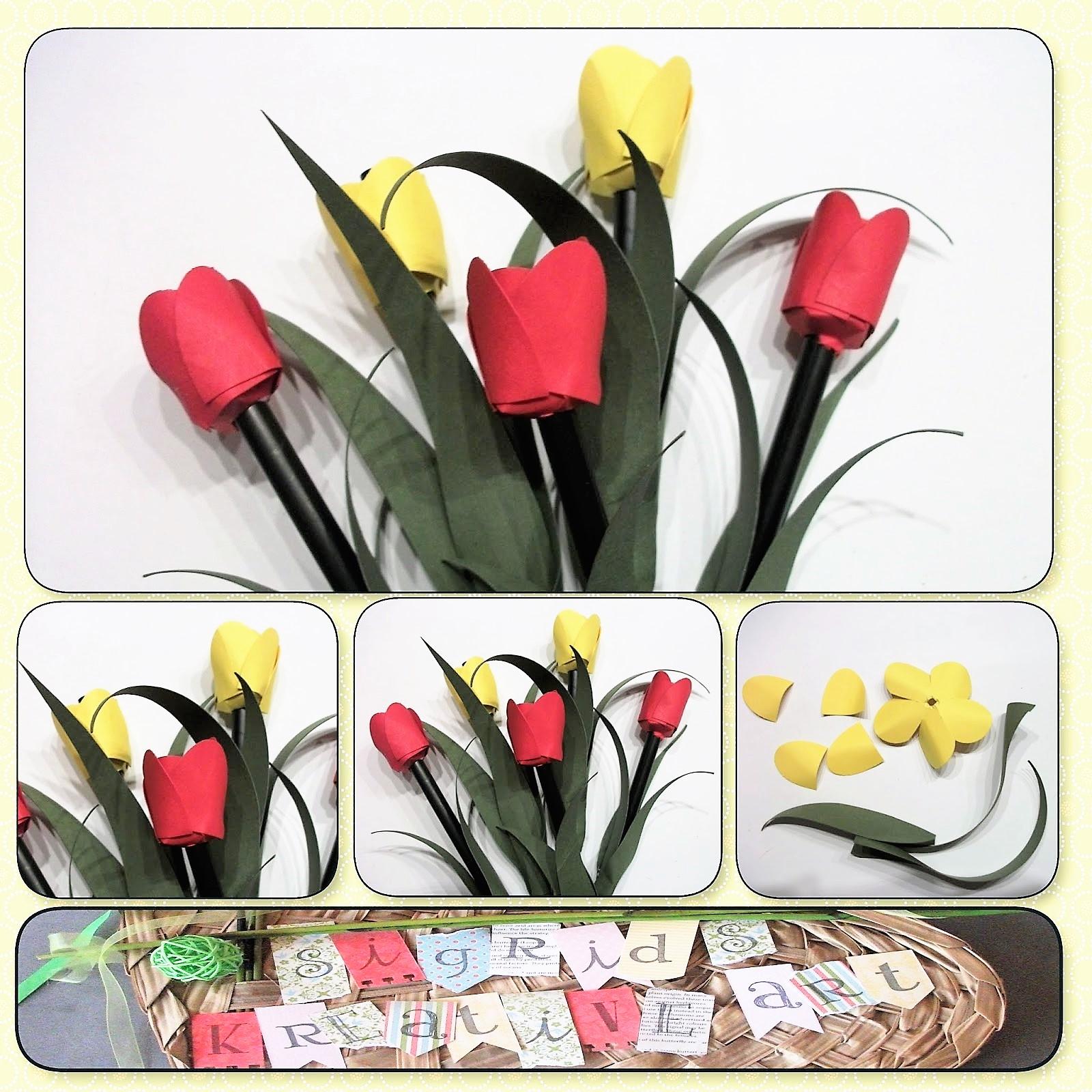 tulpen einfach basteln anleitung, tulpe aus papier basteln | hand im glück - mein do it yourself portal, Design ideen
